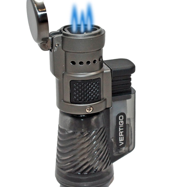 Vertigo Cyclone Triple Tourch Lighter On