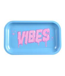 Vibes Metal Rolling Tray Bubblegum Drip Logo Medium