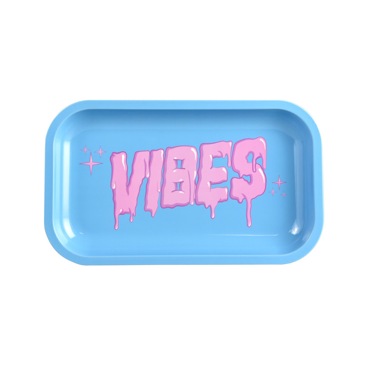 Vibes Metal Rolling Tray Bubblegum Drip Logo Medium