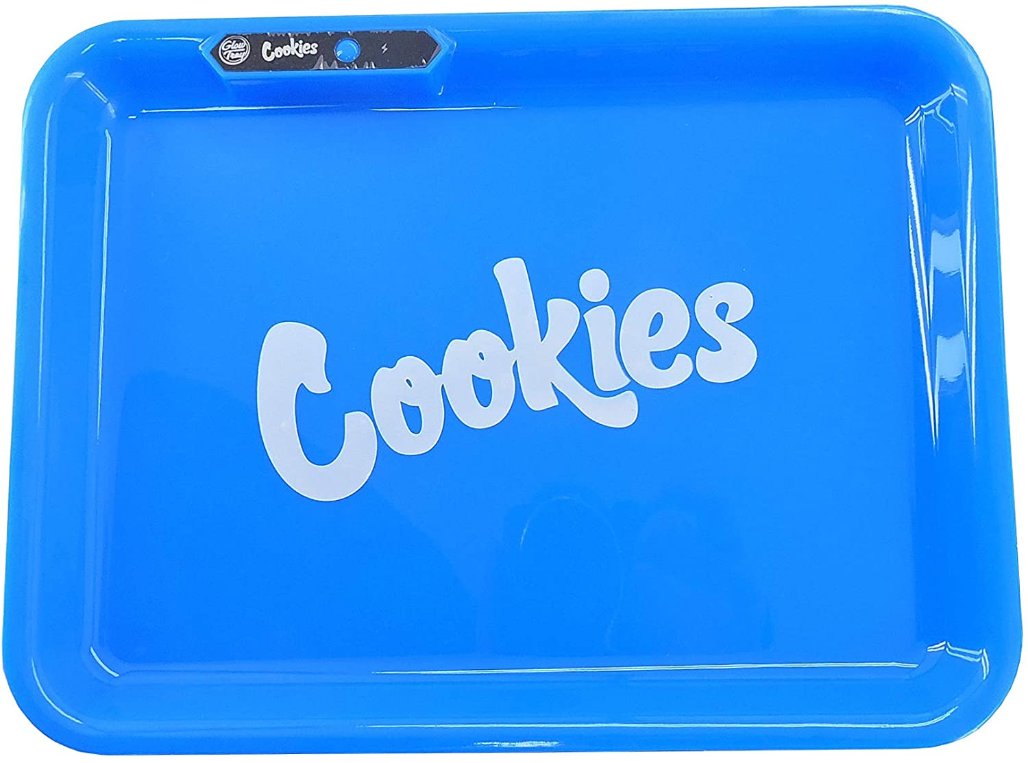 Glow Tray X Cookies Blue Led Rolling Tray By Glow Tray