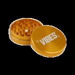 Vibes 2 Piece Grinder 63mm Gold 2