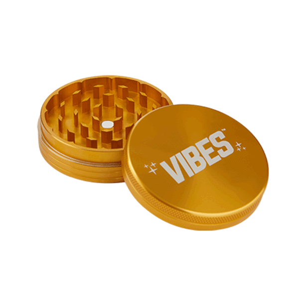 Vibes 2 Piece Grinder 63mm Gold 2