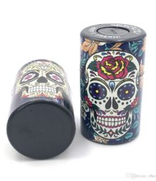 Airtight Tobacco Container Skull Pattern (1)