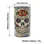 Airtight Tobacco Container Skull Pattern Size
