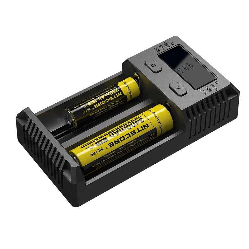 Nitecore New I2 Intellicharger 2 Channel Univer Al Battery 2